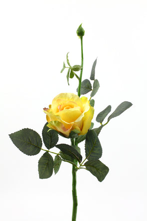 yellow artificial rose stem