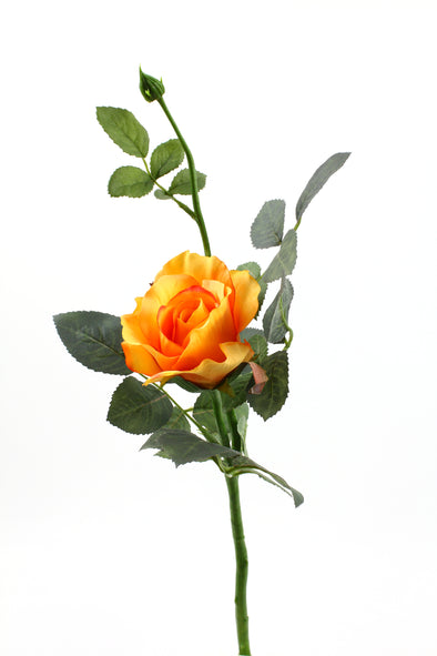 orange artificial alice rose stem