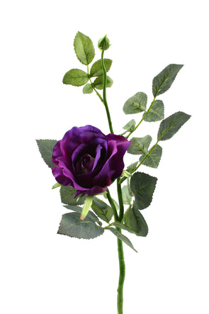 violet artificial alice rose stem