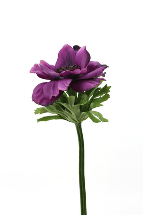 Anemone Real Touch Artificial Flower - Purple