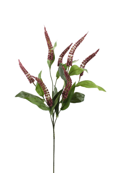 Cascara Berry Artificial Flower Spray - Burgundy