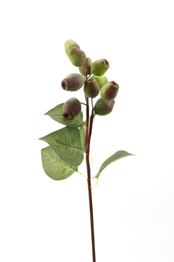 Gum Nut Artificial Flower Nut Spray - Green Brown 61cm
