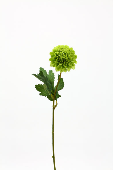 Chrysanthemum Mini Ball Artificial Flower - Green 15cm