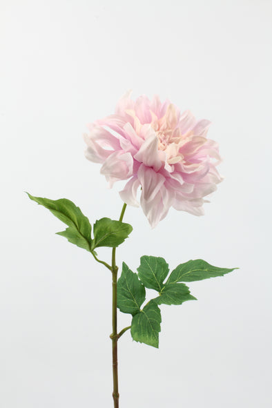 Dahlia Large  Artificial Flower With Curl Petals - Pink Lilac 62cm