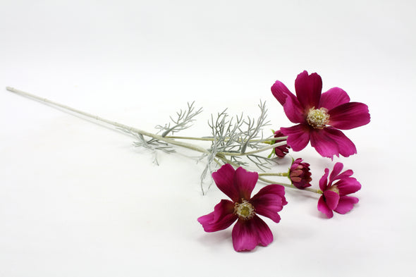 Cosmos Artificial Flower Spray - Fuchsia 60cm