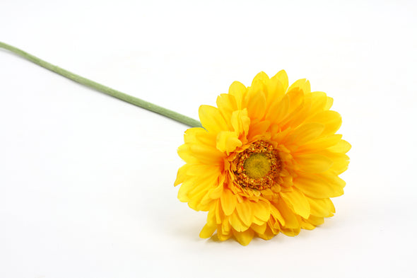Gerbera Artificial Flower - Yellow 62cm