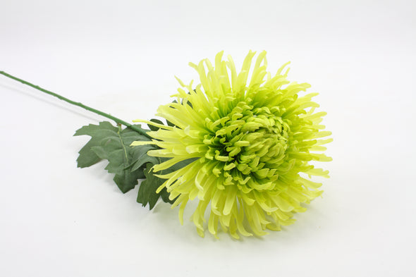 Chrysanthemum Spider Ball Artificial Flower - Green 66cm