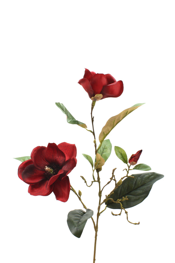 Magnolia Spray Red 81cm