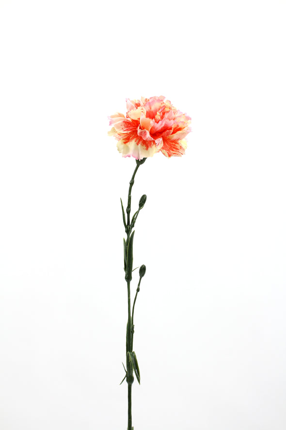 Carnation Artificial Flower - Cream Red 61cm