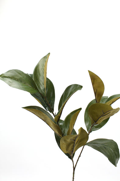 Magnolia Leaf Spray Green Brown 76cm