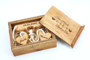 Personalised Wooden Puzzle - Two Hearts Beat As One -  Wedding Gift - FREE SHIPPING WITHIN AUSTRALIA