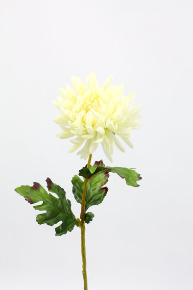 Chrysanthemum Artificial Flower Stem - White 58cm