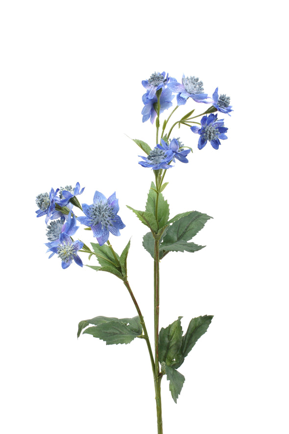 Astrantia Artificial Flower Spray - Blue 49cm