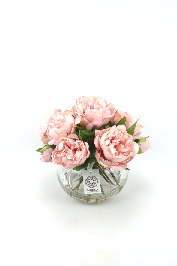 Pink Peony Artificial Flower Arrangement - Medium