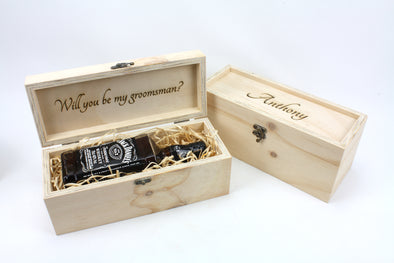 Wooden Groomsmen Proposal Box