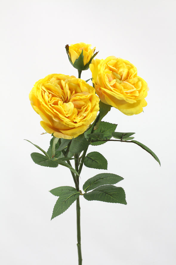 Yellow Louis Rose Artificial Flower Spray