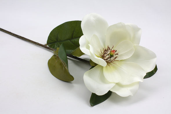 Magnolia Stem Artificial Flower Cream 66cm