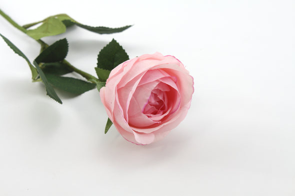 Pink real touch David Austen earlyh bloom Rose artificial flower stem