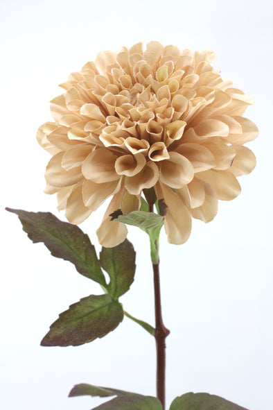 Dusty pink large Dahlia artificial flower stem