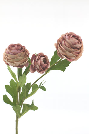 Dusty purple petite Ranunculus Artificial flower stem