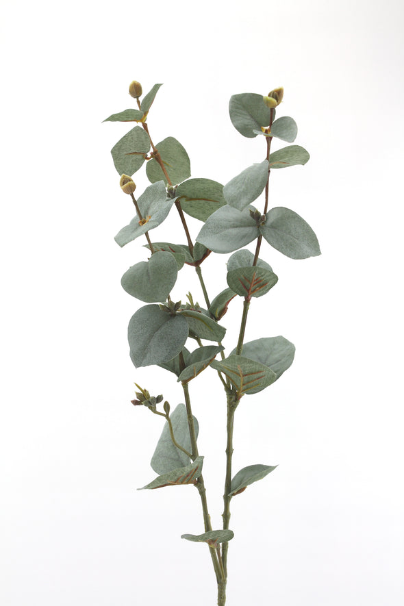 Artificial native eucalyptus leaves flower stem