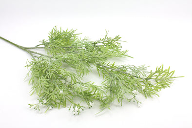 Flowering Grass Spray Green White 76cm