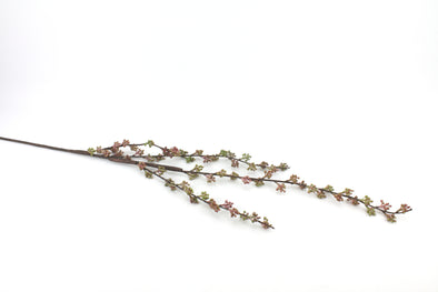 Berry Artificial Flower Spray - Green Lavender 120cm