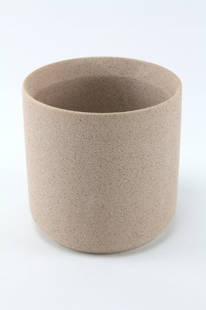 Ceramic Cylinder Pot Vase- Grain Blush - Medium 13cm x 13cm