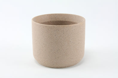 Ceramic Cylinder Pot - Grain Blush - Small 9.5cmH x 11.5cmD