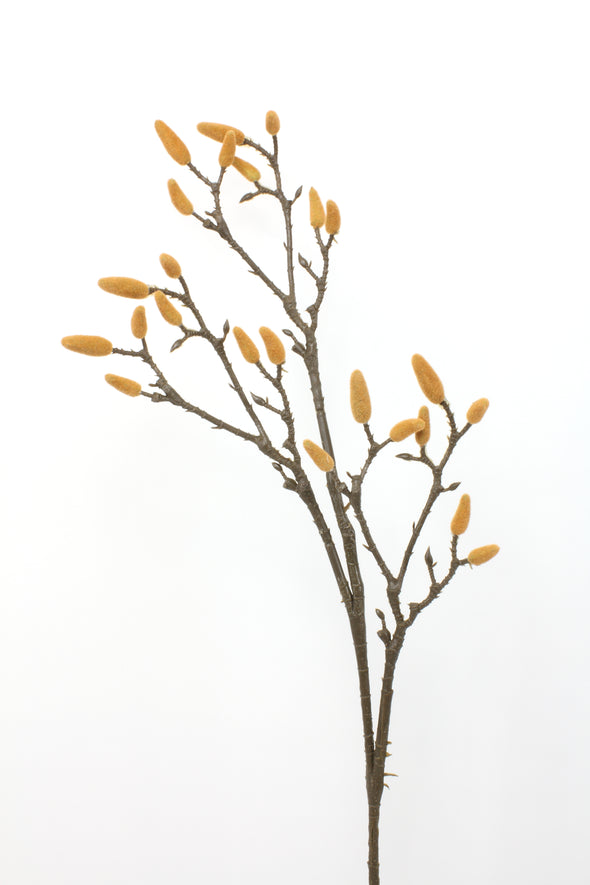 Magnolia Bud Artificial Flower Spray 86cm