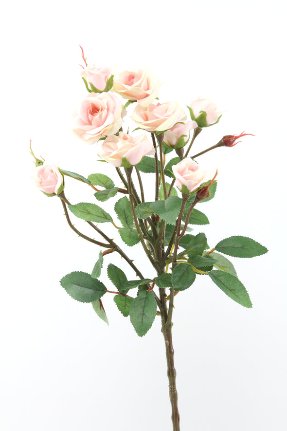 Mini Rose Spray Light Pink 56cm