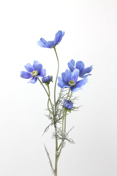 Cosmos Artificial Flower Spray - Blue 60cm