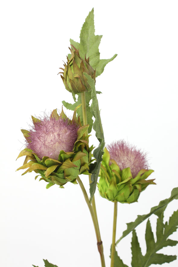 Thistle Spray Purple 69cm
