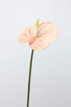 Anthurium Artificial Flower Stem -  Pink 58cm