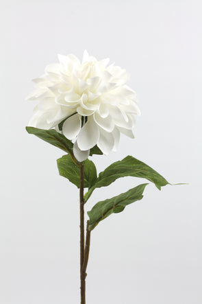 Dahlia Artificial Flower - White 58cm
