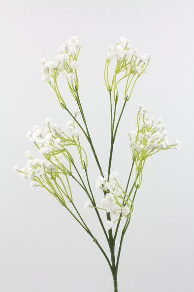 Gypsophila (Baby's Breath) Artificial Flower Spray - White 64cm