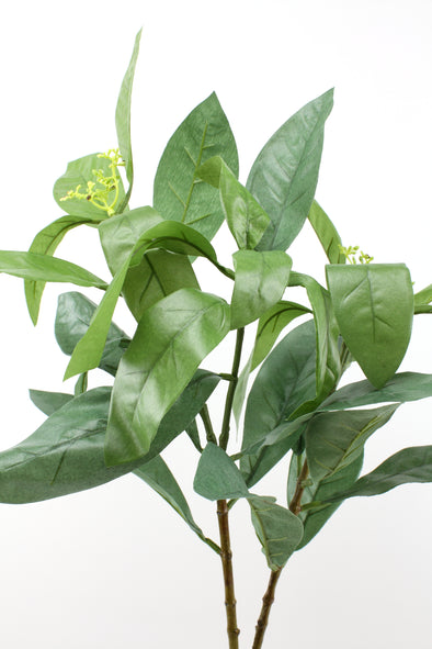 Artificial Croton Leaf Spray Green 96cm