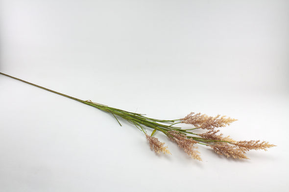 Sorghum Grass Artificial Spray - Natural Cream Brown 124cm