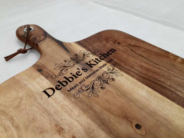 Chopping board - Paddle Serving Board - Custom Engraving - Housewarming Gift - Gift For Mum - Father's Day Gift - Anniversary Gift - Birthday Gift