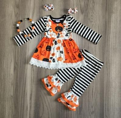 Halloween Black Stripe Set