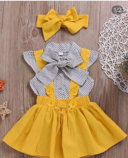 Yellow Pinafore Dress