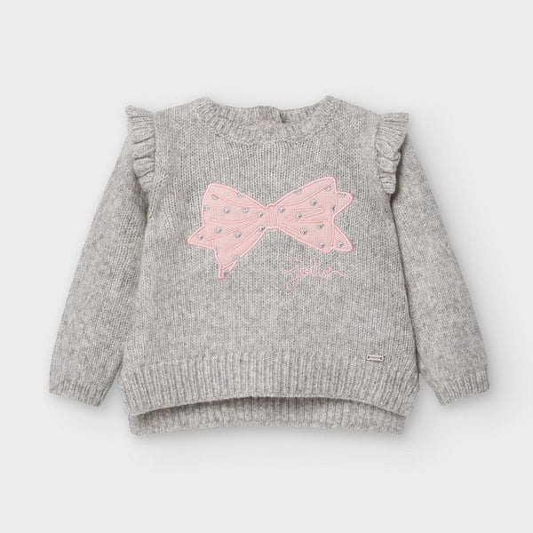 Gray & Pink Bow Set ( Mayoral Brand)