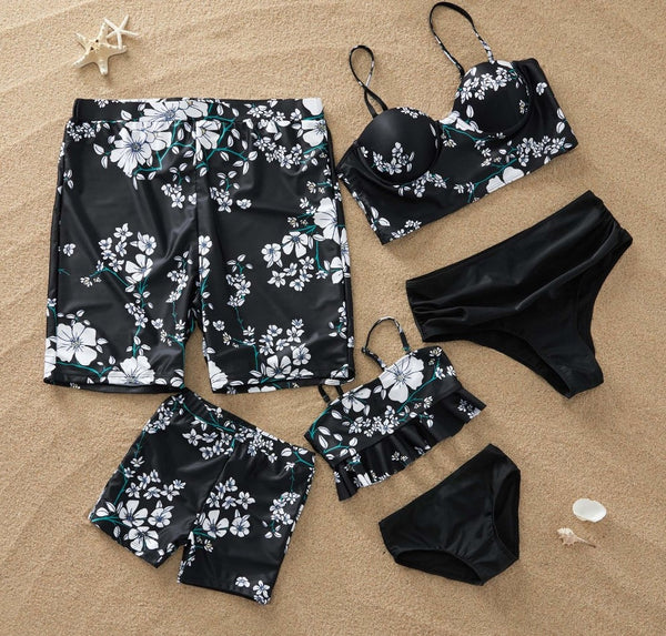 Family Matching Floral Swim Set