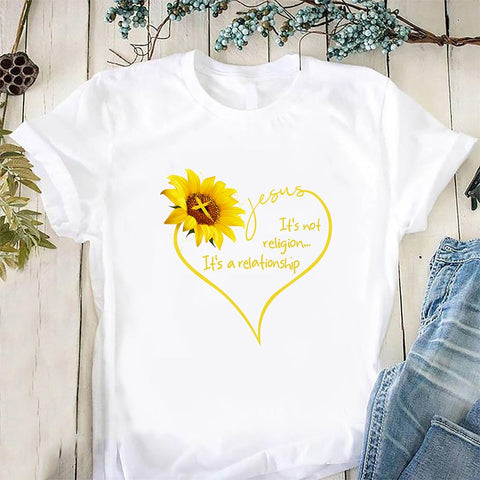 Sunflower Jesus Tee