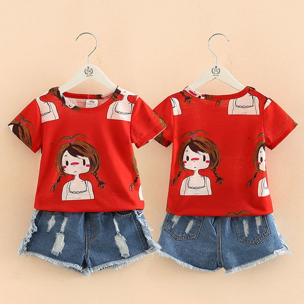 Girl Red Short Set