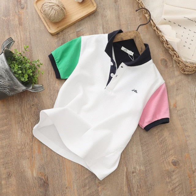 White Colorblock Shirt