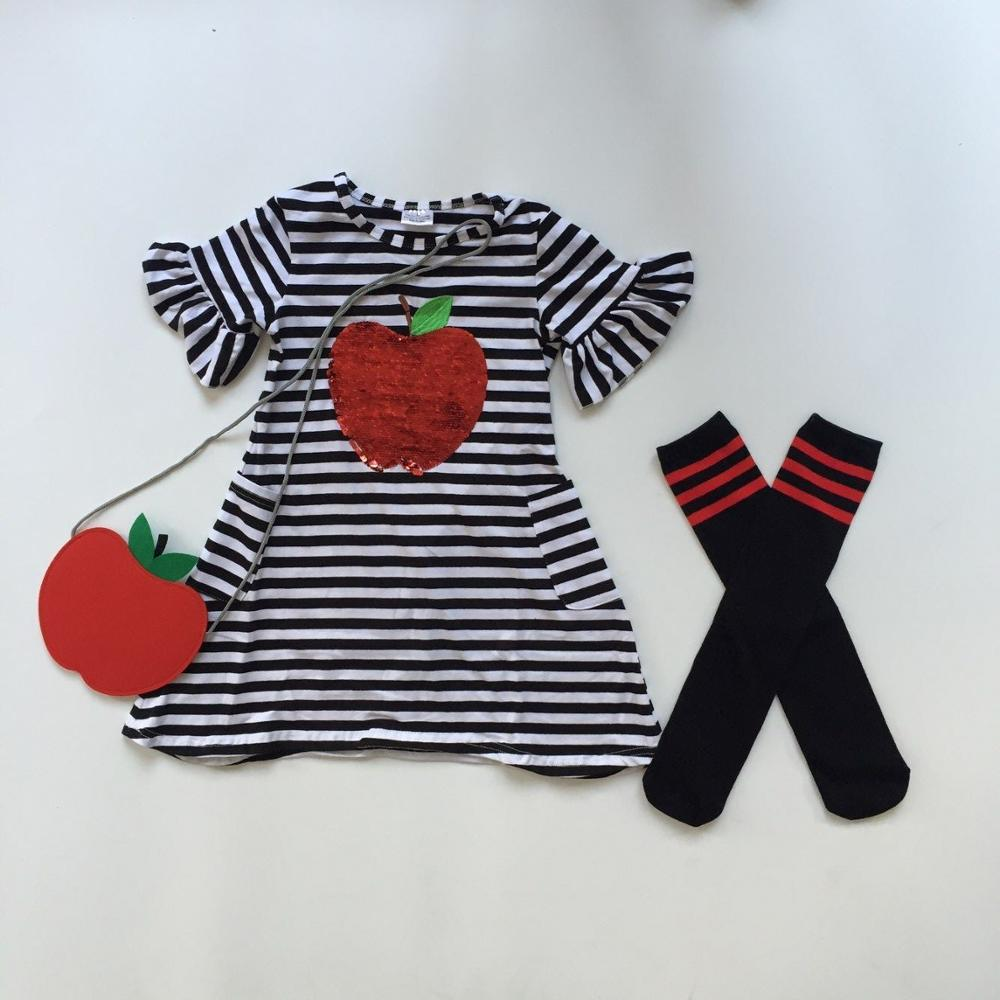Apple Stripped Dress w/Accessories