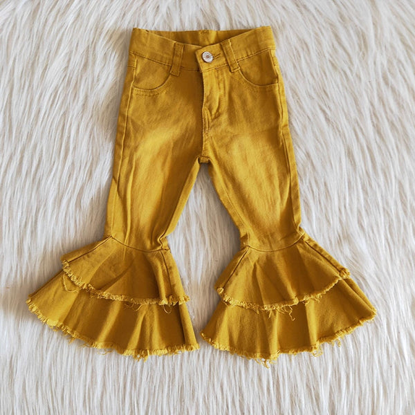 Gold Denim Bell Bottoms