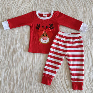 Reindeer Striped PJ's