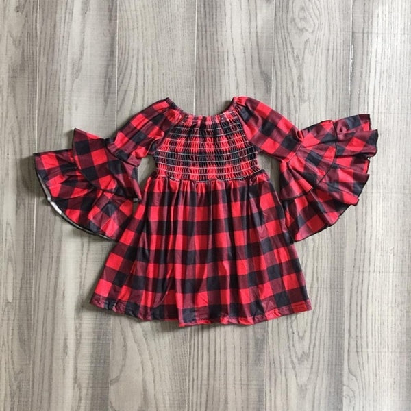 Smock Plaid Dress